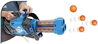 BABY BOSS - POWER POPPING GUN WITH 24 FOAM BALLS (GATLING MACHINE GUN FOR KIDS)