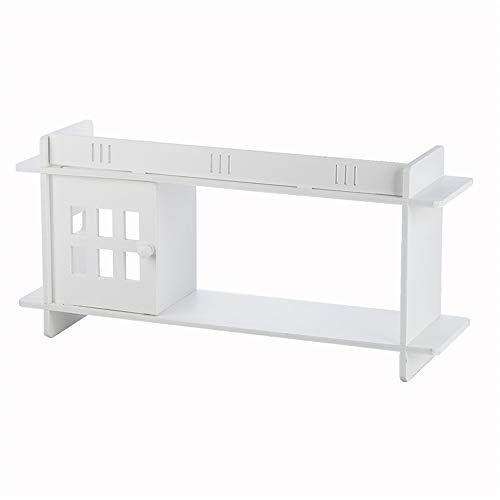NBLYW Badkamer Wandkastje, Wandkasten met deuren en planken boven het toilet, Badkamer Wandkast, Waterbestendig ontwerp, Kleine plaats, Wit
