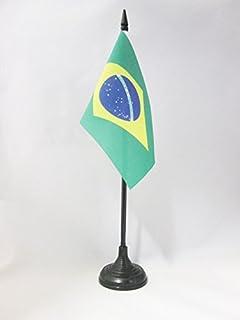 AZ FLAG Drapeau de Table Br/ésil 21x14cm Petit Drapeaux DE Bureau br/ésilien 14 x 21 cm