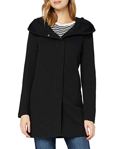 ONLY Damen Onlsedona Light Coat Otw Noos Mantel, Schwarz (Black Black), 44 EU
