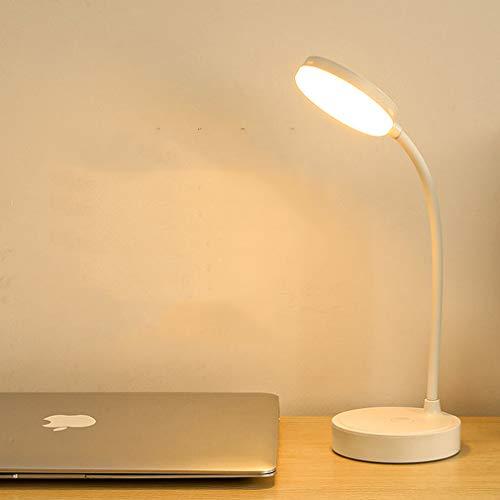 Milnut Luz Escritorio Flexos Para Estudiar Lampara De Mesa, LáMpara De Escritorio De Carga USB Con AtenuacióN Continua, LáMparas Infantiles De Escritorio Luz Nocturna 34x10cm White