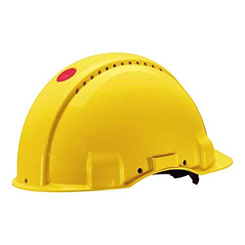3M Peltor Schutzhelm G3000, G30NUY, mit 3M Uvicator Sensor, ABS, mit Schweißband und Ratschensystem, belüftet, gelb