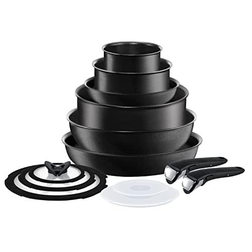 T-fal Ingenio Expertise Nonstick Cookware Set-Fry, Sauce Pan, Pots, 13 piece, Black