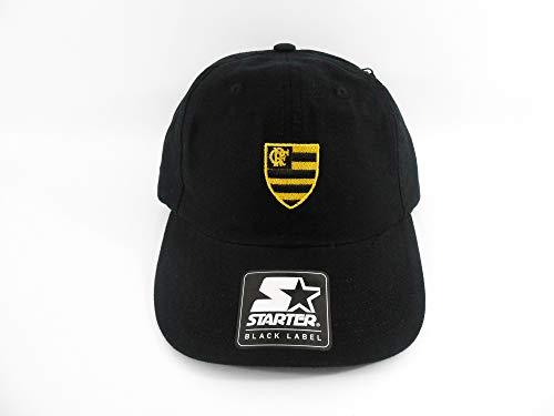 Boné Starter X Flamengo Aba Curva Preto Escudo Amarelo