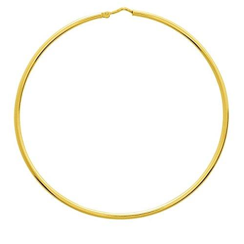 Kahla–Orecchini a cerchio–Anello oro giallo 18K–Diametro 60mm spessore 1.5mm–www.diamants-perles.com
