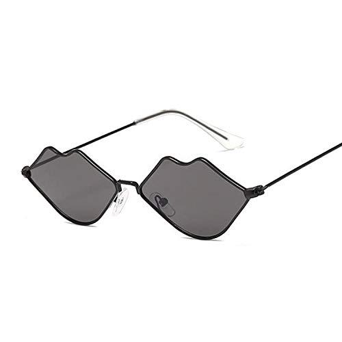 DLSM Occhiali da sole stile vintage per donna Carino occhiali da sole per le donne vintage con protezione UV400 adatta per equitazione, pesca-Nero grigio.
