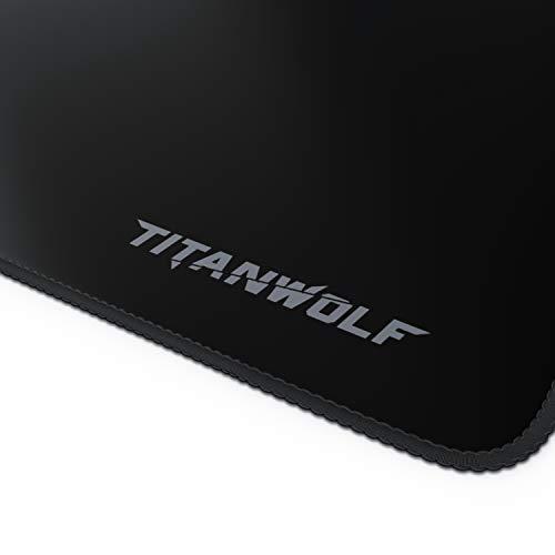 CSL - Übergröße Mauspad Gaming Titanwolf 1200x400mm - XXXL Mousepad groß mit Motiv - Tischunterlage Large Size - verbessert Präzision und Geschwindigkeit - XXL z.B. für Logitech Maus und Tastatur