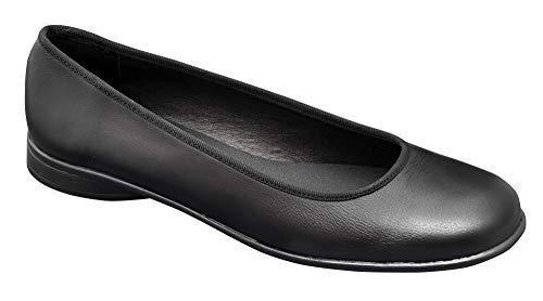 Zapato Tipo Bailarina Mujer Uniformes en Piel Color Negro, Marca DIAN - bailarina-23