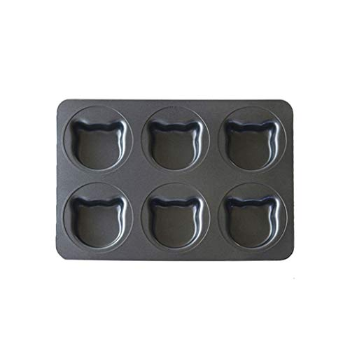 OMING Loaf Pan Bakeware Cupcake and Muffin Pan Nonstick & Quick Release Coating, Bread Mold (Color : Black)