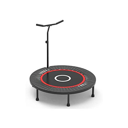 LKNJLL Mini Trampoline 40-inch Rebounder Indoor Foldable Noiseless Small Trampoline With Safety Pad,Adjustable Foam Handle for Kids Adults Outdoor Exercise Fitness Trampoline