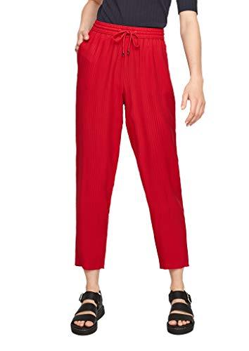s.Oliver Damen Regular Fit: Struktur-Hose true red 46