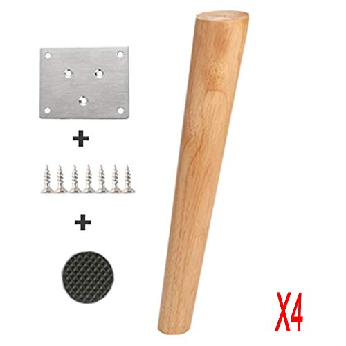 JWZQ 4 * Massivholz Sofa Beine / Tischbeine / Kabinett Füße / Holzfüße / Sofa Beine / TV Kabinett Füße / Holzbeine / Stuhl Füße Solide Protokolle Umweltfreundlich und Kann Gewicht 500kg aushalten