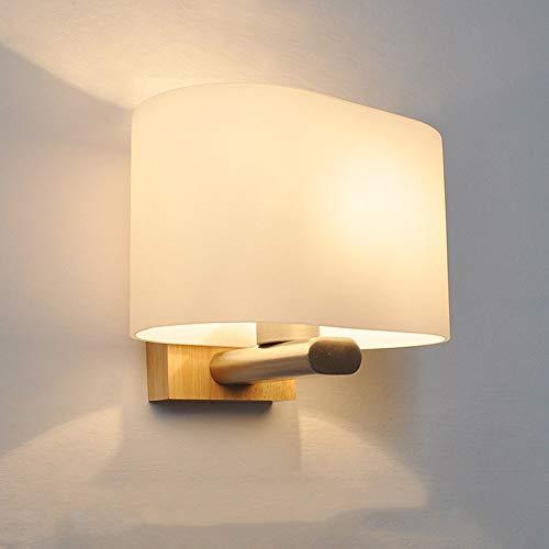 MGWA Lámpara de Pared Nordic Moderna Lámpara De Pared Minimalista Vidrio Creativo Iluminación De Madera Larga 200 * 140 * 160 (mm) 5-8 Metros Cuadrados Restaurante Dormitorio Estudio Corredor