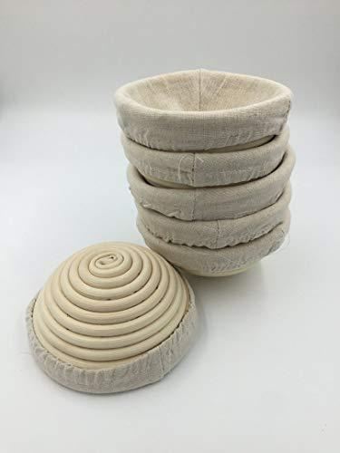 6 Pieces 5'(13CM) Round Proofing Basket Banneton Brotform,Round Rattan Banneton Brotform Bread Proofing Proving Basket,Wholesale