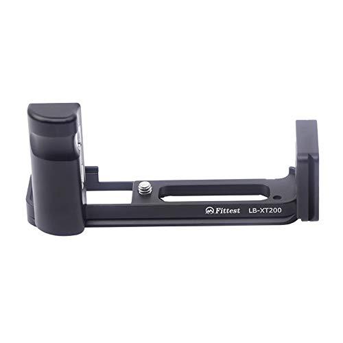 対応モデル Fujifilm Fuji 富士 XT200 X-T200 L型クイックリリースプレート、Koowl製、コンパクトネスが優れた、取り外し可能な、耐磨耗性、 耐腐食性、ブラック (ブラック)