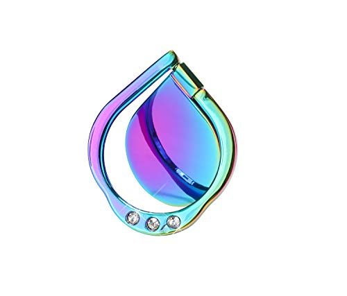Lenoup Rainbow Sparkle Soporte de anillo para teléfono celular, con purpurina brillante y arco iris agarre anillo, dedo rotación 360 grados casi todos los teléfonos/almohadillas