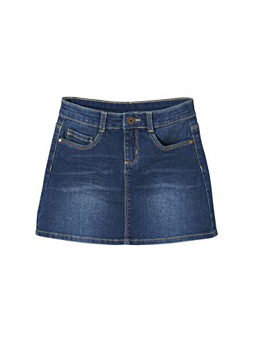 Vertbaudet Mädchen Jeansrock, Five-Pocket Blue Stone 140
