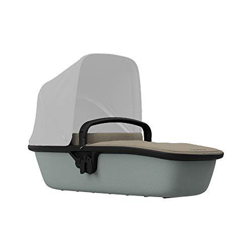 Quinny Lux Kinderwagenaufsatz, passend für Buggy Zapp Flex und Zapp Flex Plus, ultraleichte Babywanne, robust und atmungsaktiv, innovatives Design, nutzbar ab der Geburt bis 6 Monate, sand on grey