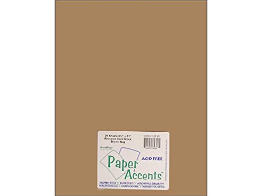 Accent Design Paper Accents ADPaperRecycled85x11BrownBag Cdstk Recycled 8.5x11 65# Brown Bag