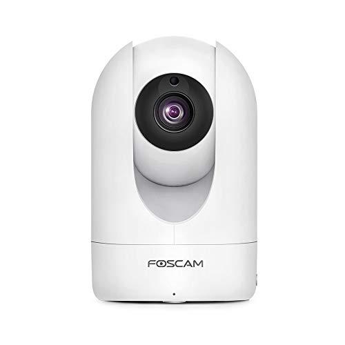 Foscam Fi-R4Mb Cámara IP de videovigilancia WiFi. Cámara doméstica inalámbrica de Alta resolución 2K 4MP con Pan/Tilt