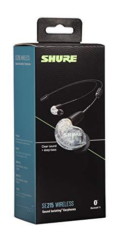 SHUREワイヤレスイヤホンBT2シリーズSE215-CL+BT2-Aクリア:高音質/高遮音性/マイク・リモコン付【国内正規品/メーカー保証2年】