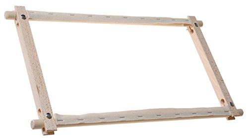 Elbesee Métier à Tapisserie Rotatif en Bois 45 x 22 cm - Marron