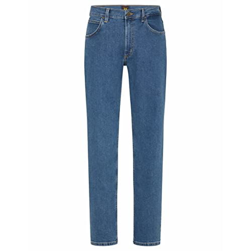 Lee Brooklyn Jeans, Mid Stone, 34W Regular Homme