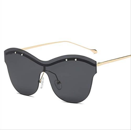 Gafas de sol sin marco para hombres y mujeres, gafas de sol Trend Inge de moda con montura grande
