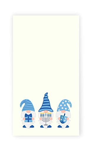Hanukkah Gnomes With Symbols Kitchen Tea Towel, Holiday Kitchen Decor, Hostess Gift Idea