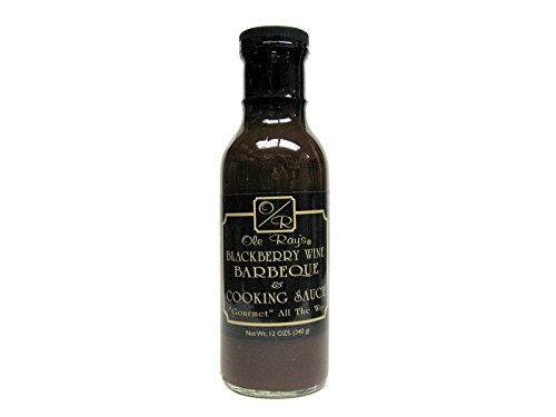 Ole Ray's Blackberry Wine Barbecue & Cooking Sauce (2 Pack of 13.5 Oz. Bottles)