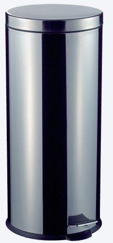 Wesco 103 634 Tretabfallsammler, 30 Liter Edelstahl