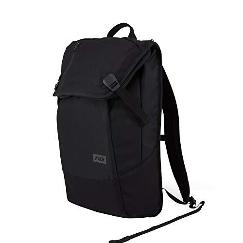 AEVOR Daypack Rucksack für die Uni und Freizeit inklusive Laptopfach und erweiterbar auf 28 Liter - Black Eclipse - Schwarz