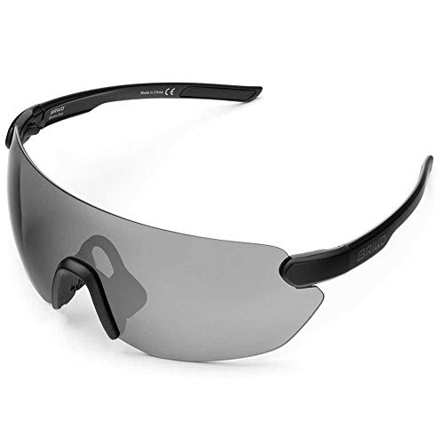 Briko Starlight 3 Lenses Gafas Sol Ciclismo, Unisex Adulto, Black, One