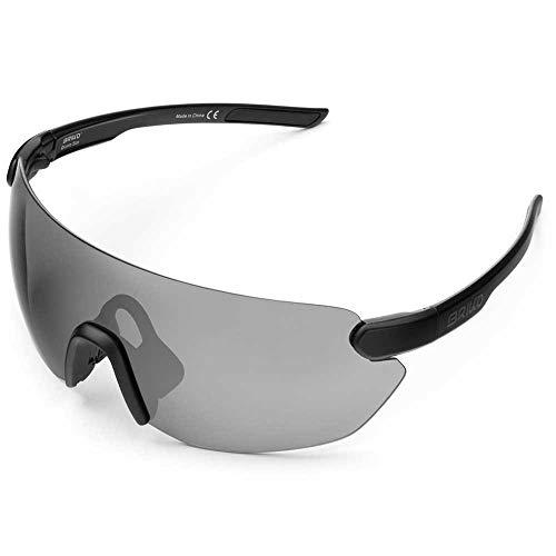 Briko Starlight - Occhiali da sole da ciclismo, unisex, per adulti, colore: nero