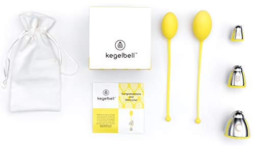 KEGELBELL Training Kit for Pelvic Floor Muscle & Incontinence | Only 5-Min & 3X/wk | FDA Registered | Medical Grade Silicone | External Weights for Optimal Kegeling | Safe, Natural Results in 2wks