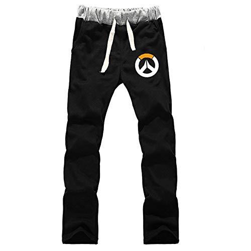 Oowjj Overwatch Anime Jogginghose Hose Cosplay Kostüm Sport Jogging Lange Hose mit Taschen