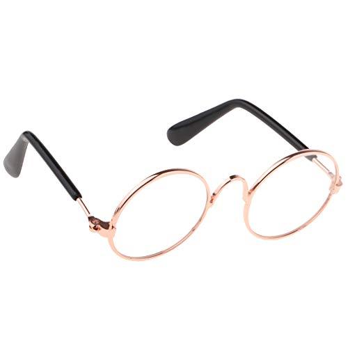 MagiDeal 1 Paar Runde Brillen Sonnenbrillen Puppenzubehör Für 1/6 Blythe BJD Puppen - Klar