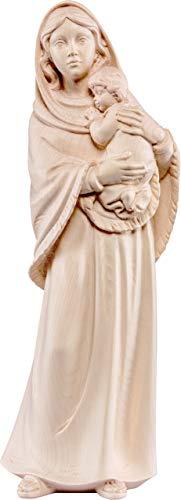 Imagen de la Virgen de Ferruzzi en Talla de Madera con Acabado Natural Que Mide 85 cm - Demetz Deur