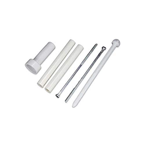 BQLZR Boulon en acier inoxydable argent/é avec filetage M8 en forme de U avec /écrou de plaque rectangulaire et rondelles pour fixation de tuyau 50 mm