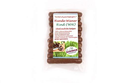 Keksdieb Hunde Wiener ohne Gewürze 10 Würstchen Größe 1 x 10 Stück