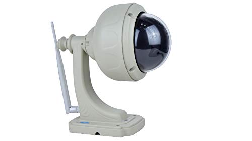 Vstarcam - Camara de vigilancia IP WiFi giratoria con Zoom para Exterior casa en Forma farola con Almacenamiento Interno de tajeta SD