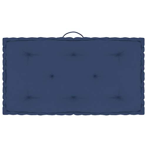 vidaXL Cojín para Palé de Suelo Sofá Banco Jardín Patio Terraza Asiento Tumbona Exterior Acolchado Grueso Decoración Cómodo Algodón Azul Marino Claro