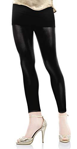 Marilyn coole Leggings knöchellang in semi-glossy Optik, 100 Denier, Größe 36/38 (S/M), Farbe Braun (chocolate)