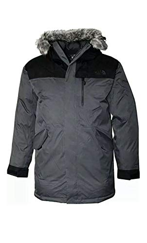 The North Face Bedford Men's Down Jacket Winter Parka (Asphalt Grey, L)