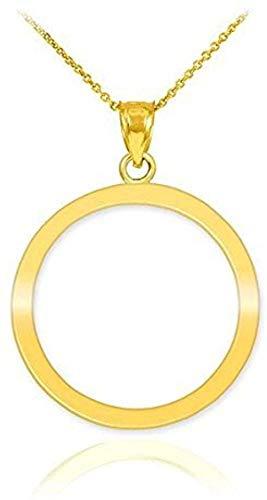 Collar Karma con colgante de círculo de vida en oro amarillo de 10 k