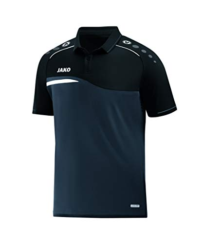 JAKO Herren Polo Competition 2.0, anthrazit/schwarz, 4XL