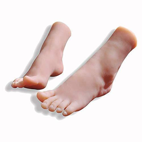AFYH Silicone Pieds Modèle, Le modèle de Pied 36A simule Les Beaux Pieds féminins 1: 1 modèle de Pieds pour Les Chaussures et Les Chaussettes et l'affichage de Bijoux