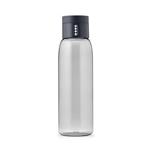 Joseph Joseph Dot - Trinkflasche mit Kontrollfunktion, 600 ml - grau