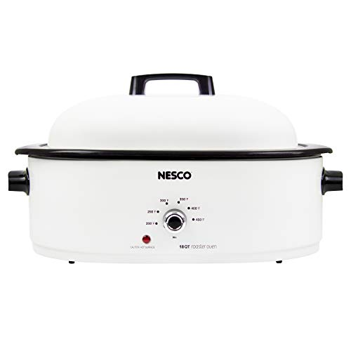 NESCO MWR18-14 Roaster Oven, 18 quart, White