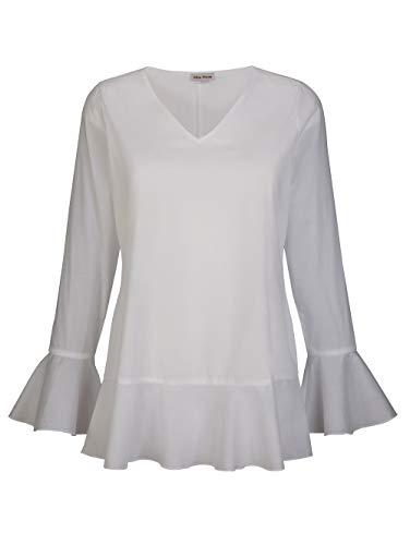 Alba Moda Damen Bluse Weiß 38 Baumwolle